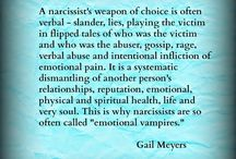 Emotional vampires and narcissists