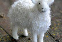 Felt animals-sheep