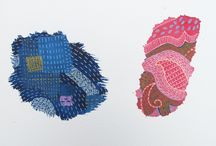 Fragment Series / Ink and Gouache Drawings of Fabric Fragments that represent fragile and vulnerable parts of ourselves we may prefer to keep hidden.