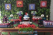 ornamentación cumpleaños motivo futbol