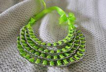 bÓ necklaces/ naszyjniki / Eco jewellery by bÓ. Necklaces made of aluminium can pins.