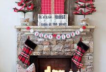 CHRISTMAS MANTEL AND FIREPLACES / THE BEAUTIFUL FIREPLACES AND MANTELS CHRISTMAS STOCKINGS HANGING UP AND BEAUTIFUL DECORATIONS / by Scraptime @ Clearview Scraps