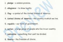 Pledge of Allegiance Unit / Pledge of Allegiance spelling and vocabulary/definition unit. Pledge of Allegiance poem Pledge of Allegiance Choral Reading