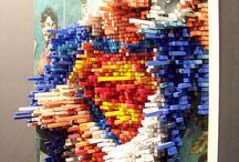 Pixel Glass and Sculptures