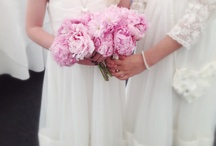 Vintage and pretty bouquets. / Lily of The Valley,peonies, sweet peas and ranunculus bridal bq.