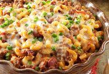 Southwestern casserole / Pasta and ground beef