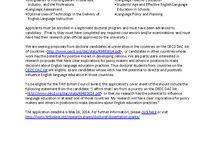 Announcements / Announcements for VenTESOL Networks