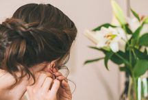Hair up with braid