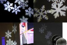 Christmas Projector Light Snowflake Indoor House Home Family Decoration Xmas Led