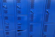 Eastland High School - Lanark, IL #DeBourgh #Lockers / #Corregidoor #SentryOneLatch #RoyalBlue #ThatColorThough #DiamondPerforation #PianoHinge #DeBourgh #Lockers