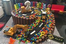 Construction birthday cake / Birthday cake
