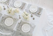 Gather around the table... / Dinner table setting ideas for parties