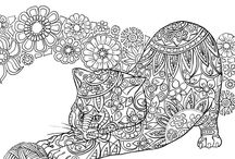 adorable cats coloring pages