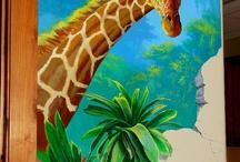 animals / muurschilderingen dieren