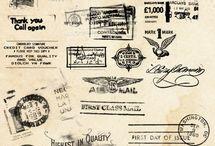 Post stamp & mark..