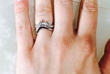 Wave Engagment Ring & Band / Custom Hand Made Wave Engagement Ring and Matching Band For Courtney by Cynthia Britt