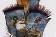 Kézzel festett madártollak