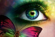 глаза радужные
