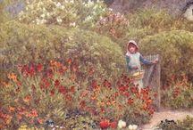 Obrazy ogrodów