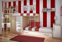 bedrooms / by Jacqueline Seifert