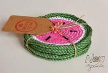 decoración a crochet