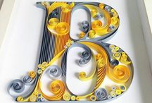 quilling lettere