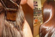 cabello teñido con canela