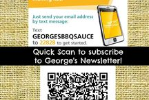 Quickly connect with George's! / Join our newsletter,facebook page, Google+, Twitter... come along for the funness!
