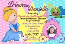 Personalised Princess & Superhero invitations / Personalised Princess & Superhero invitations