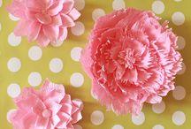 Base Crepe Paper Flowers