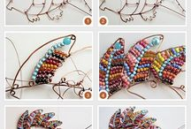 beaded ornaments for patio wall