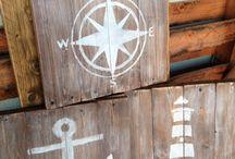 Deko maritim und Holz