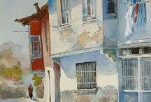 Visual Arts / Mostly watercolor