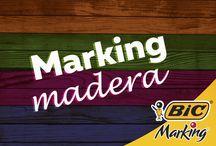Marking Madera / ¿Madera con diseños increíbles? Aquí está. La diferencia es el color.