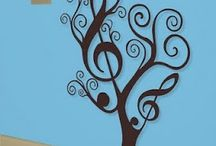 Music Decor / Ideas for decorating a music classroom.