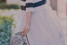 white skirt coordinate / 15spring fashion