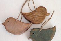 birds - wooden