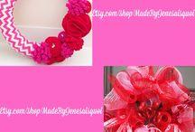 My Wreaths :) / To purchase, please go to www.etsy.com/shop/MadeByJeNeSaisQuoi