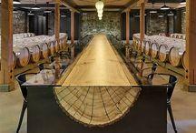 Salle a manger dans cave a vigne