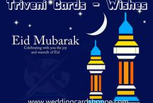 TRIVENI CARDS WISHES - EID UL AZHA / TRIVENI CARDS WISHES - EID UL AZHA  http://weddingcardshoppe.com/Shopping-Cart.asp?CatId=1&Range=0  important religious holiday celebrated by Muslims worldwide to honour the willingness of the prophet Ibrahim (Abraham) to sacrifice his young first-born son Ismail (Ishmael)a as an act of submission to Allah's command and his son's acceptance to being sacrificed, before Allah intervened to provide Abraham with a Lamb to sacrifice instead