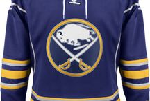 Buffalo Sabres - Official NHL Hockey Jerseys / We are the leading manufacturer of professional sports lettering & numbering and we have been selling officially licensed NHL jerseys and apparel via the internet since 1999. Visit: CoolHockey.com for more!