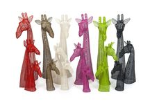 African Creative - Colour Giraffe Busts / New Contemporary Wire Designs - May 2015  Handmade epoxy coated wire busts - various sizes and colours  available. Launched in April 2015