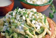 tostadas de pollo al cilantro