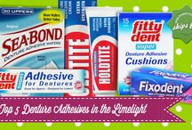 Top 5 Denture Adhesives in the Limelight / If you think that wearing dentures is no fun at all due to the insecure feeling of dropping them at anytime, read our blog. Check how Denture Adhesive can help to solve your problem.