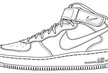 Y9 - Trainers, outline designs