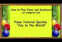 Piano Tutorial Quickies / Learn how to play your favourite music fast and FREE at www.simprov.biz. Watch the quickie demos, click on the screen link for sheet music and learn songs in minutes. More info about piano and keyboard courses and eBooks at http://www.simprov.biz/courses.html