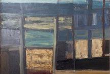Trevor Bell / Trevor Bell artist art st ives modern abstract paintings oil canvas sea for sale