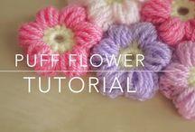 Crochet - puff flower tutorial