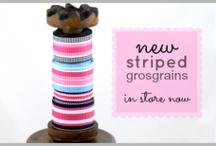 striped grosgrain | Ribbons Galore / beautiful striped grosgrain is now available at Ribbons Galore www.ribbonsgalore.com.au
