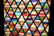 Quilt - strips - Streifen / Bunte Quilts gestreift